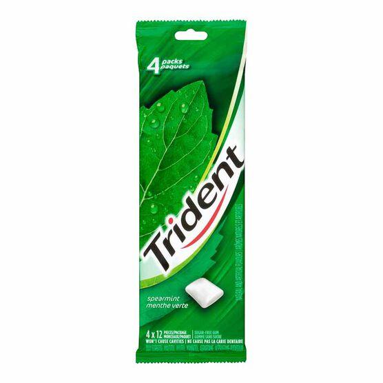 Trident Gum - Spearmint - 4 pack/12 pieces