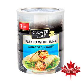 Clover Leaf Flaked White Tuna - 3 x 170g