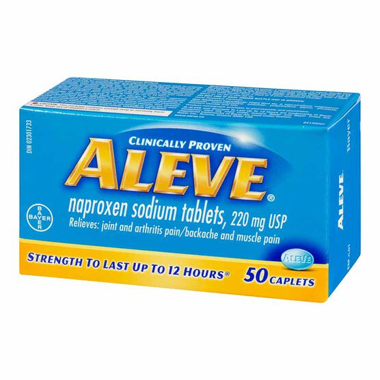 Aleve 220mg Caplets - 50's