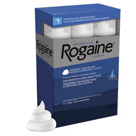 Rogaine Hair Re-growth Foam Treatment for Men - 3 x 60g
