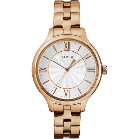 Timex Main St. Collection Watch - Rose Gold/White - TW2R28000ZA