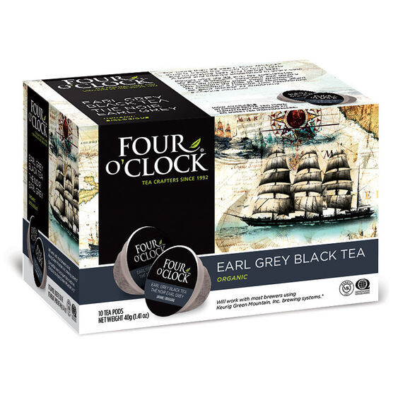 Four O'Clock Organic Tea - Earl Grey - 10 Servings