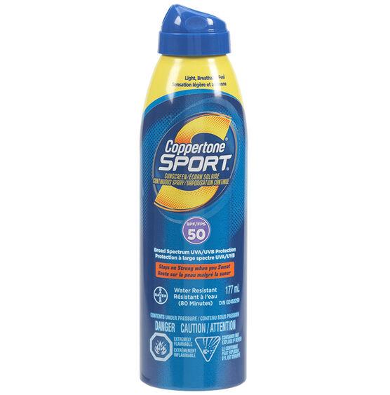 Coppertone Sport Continuous Spray Sunscreen - SPF50 - 177ml