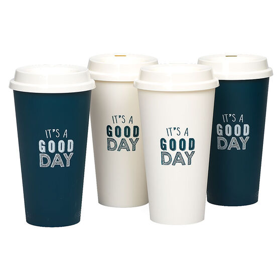 Aladdin Reusable To Go Cups - Assorted - 4 pack /20oz