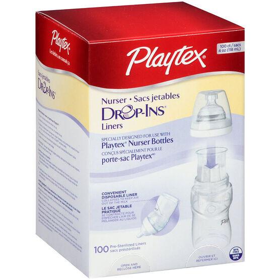 Playtex Nurser Drop-Ins Liners - 118mL - 100's