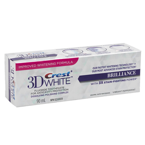 Crest 3D White Toothpaste Brilliance - Vibrant Peppermint - 90ml