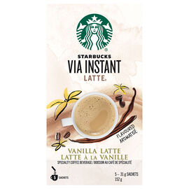 Starbucks Via Vanilla Latte - 5's