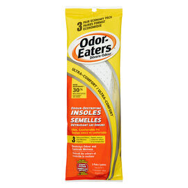 Odor-Eaters Odour Destroying Insoles - 3 pairs