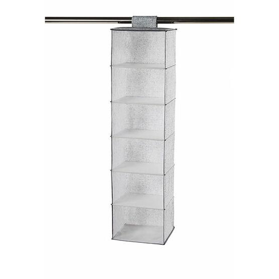 NeatFreak Closet Organizer - Pixel Grey - 6 Shelf