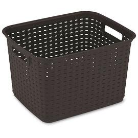 Sterilite Weave Basket - Espresso - Tall