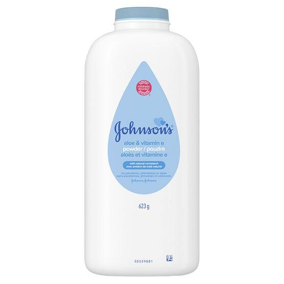Johnson & Johnson Baby Powder with Aloe & Vitamin E Cornstarch - 623g