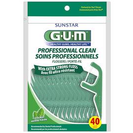 G.U.M. Professional Clean Flosser - Fresh Mint - 40's
