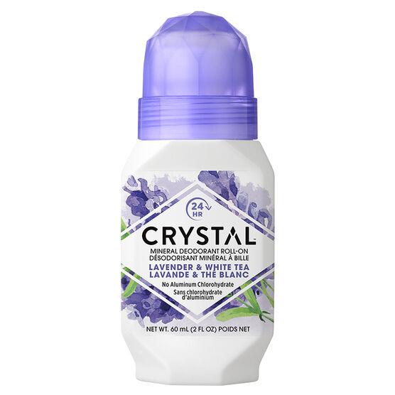 Crystal Essence Mineral Deodorant Roll-On - Lavender & White Tea - 50ml