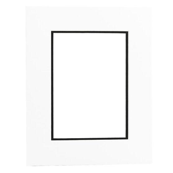 Tempo 8x10 Mat Frame - White Black