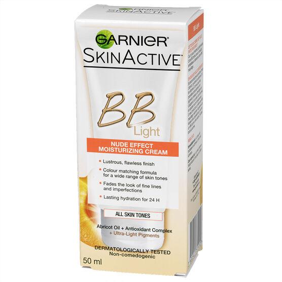 Garnier SkinActive BB Light Moisturizing Cream - Nude Effect - 50ml