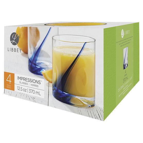 Libbey Blue Ribbon DOF Glass - Set of 4