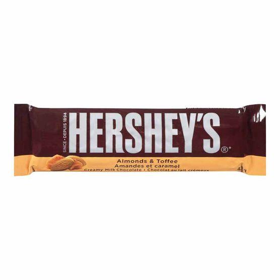 Hershey's Bar Almonds & Toffee - 43g