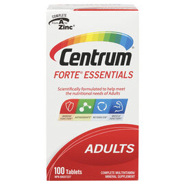 Centrum Forte Essentials Multivitamin/Minerals  - 100's