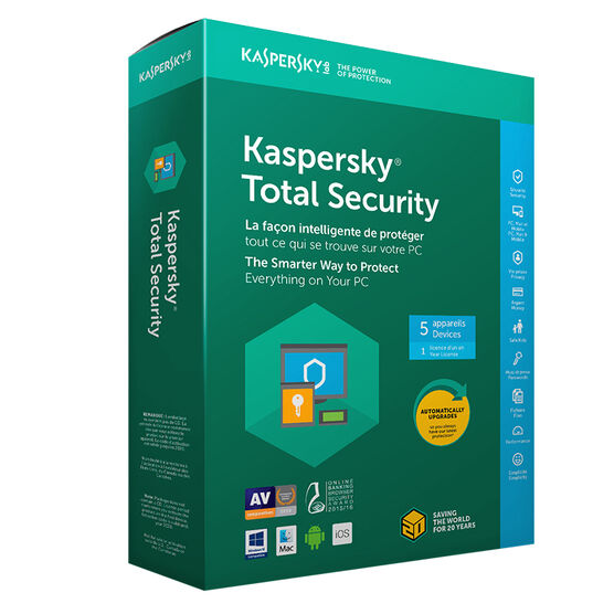 Kaspersky Total Security 2018 - 5 Devices/1 Year