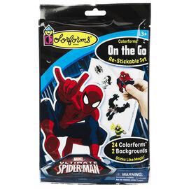 Colorforms On The Go Re-Stickable Set - Spiderman