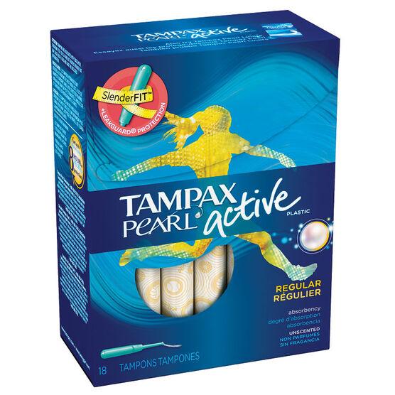 Tampax Pearl Active Regular - 18's