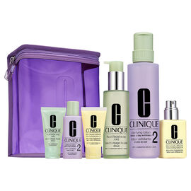 Clinique Great Skin Home and Away Set for Drier Skin - 7 piece