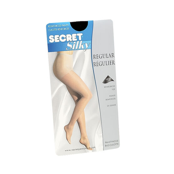 Secret Silky Sheet Pantyhose - B - Black