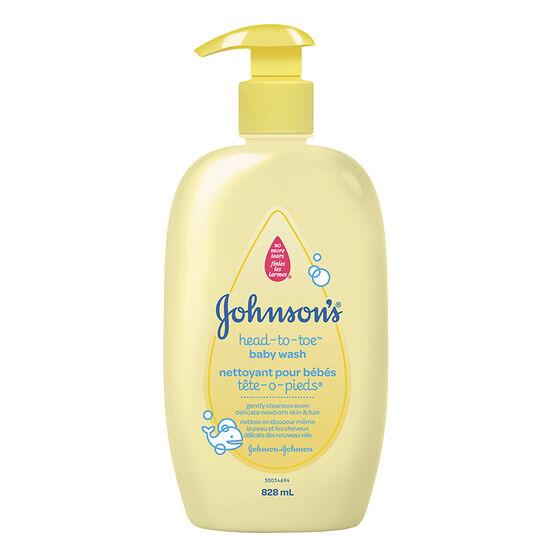 Johnson & Johnson Baby Head-To-Toe Wash - 828ml
