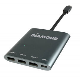 Diamond 3.1 USB Gen1 Type-C to USB 3.0 Type-A 3 Port Hub - USB3CDPD3H