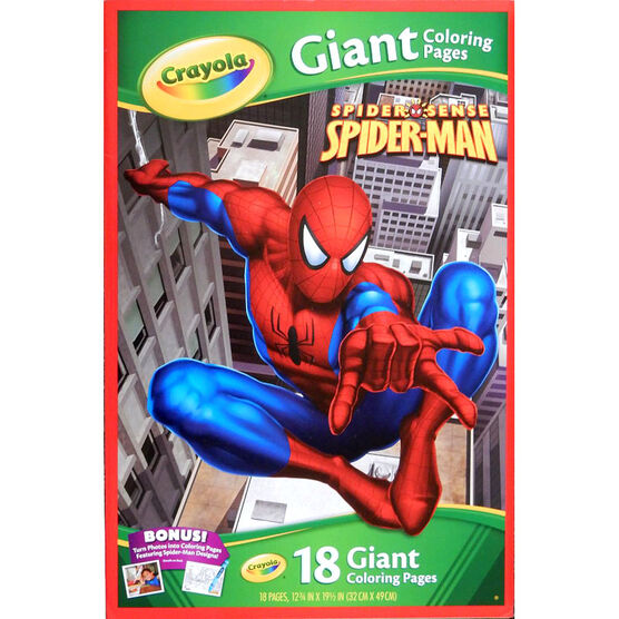 Crayola Giant Colouring Pages - Spider-Man