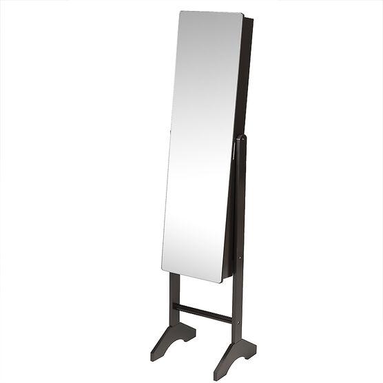 London Drugs Mirror Jewelry Cabinet -  Espresso - 35 x 35 x 153cm