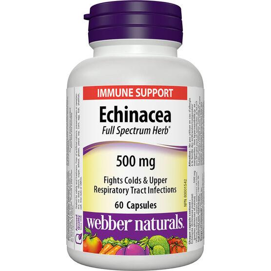 Webber Naturals Echinacea Full Spectrum Herb - 500mg - 60's