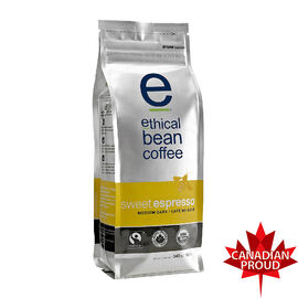 Ethical Bean Coffee - Sweet Espresso Roast - Whole Bean - 340g
