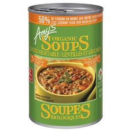 Amy's Organic Lentil Vegetable Soup - Low Sodium - 398ml
