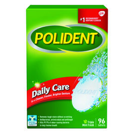 Polident Daily Care Tablets - 96's