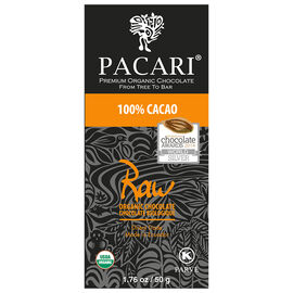 Parcari Organic Chocolate Bar - Raw - 100% Cacao - 50g