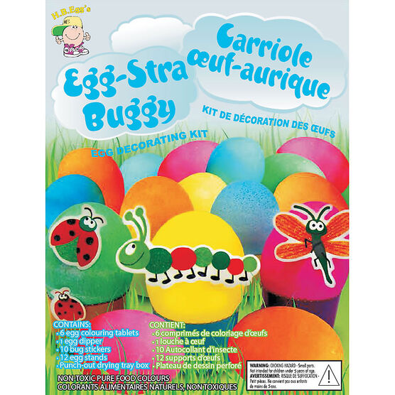 Easter Egg-Stra Buggy Egg Decorating Kit