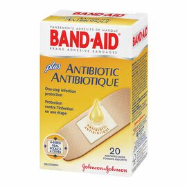 Johnson & Johnson Band-Aid Plus Antibiotic - Assorted - 20's