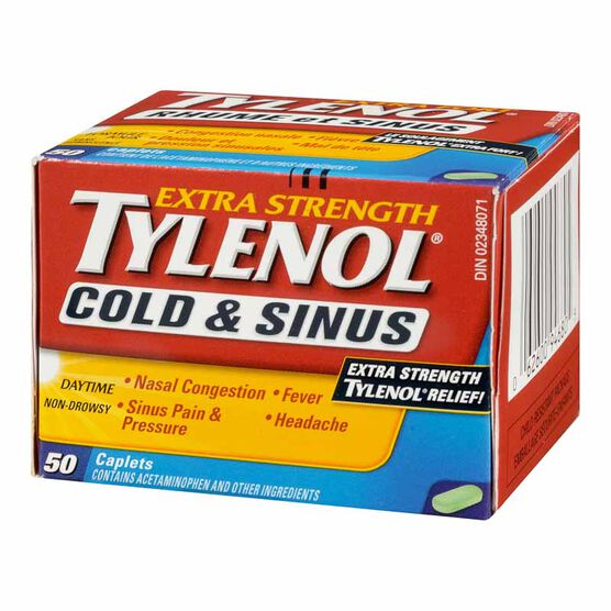 Tylenol* Extra-Strength Cold & Sinus Caplets - 50's