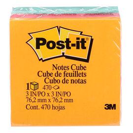 3M Post-it Notes Cube - Aqua Wave - 3x3 inches