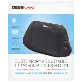 ObusForme Customair Adjustable Lumbar Cushion - SC-ALC-BK-9790908