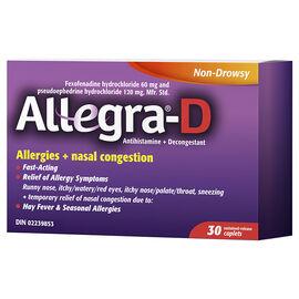 Allegra-D Allergies + Nasal Congestion - 60/120mg/ 30's