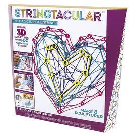Stringtacular 3D String Art Sculpture Starter Kit