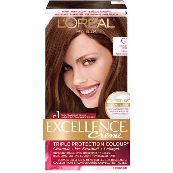 L Oreal Excellence Creme Permanent Hair Colour G1 Dark