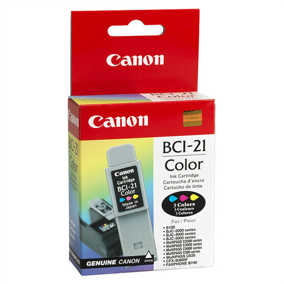 Canon BCI-21 Ink Cartridge - Colour - 0955A003