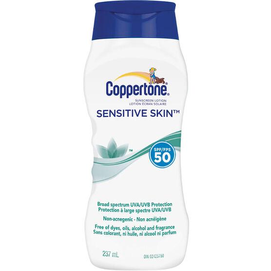 Coppertone Sensitive Skin Sunscreen Lotion - SPF50 - 237ml