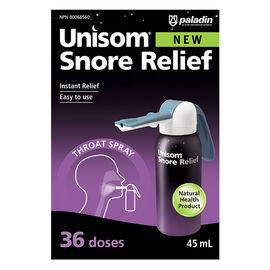 Unisom Snore Relief Throat Spray - 36 Doses - 45ml
