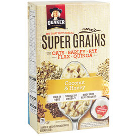Quaker Super Grains Instant Hot Cereal - Coconut & Honey - 336g