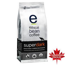 Ethical Bean Coffee - Super Dark French Roast - Whole Bean - 340g