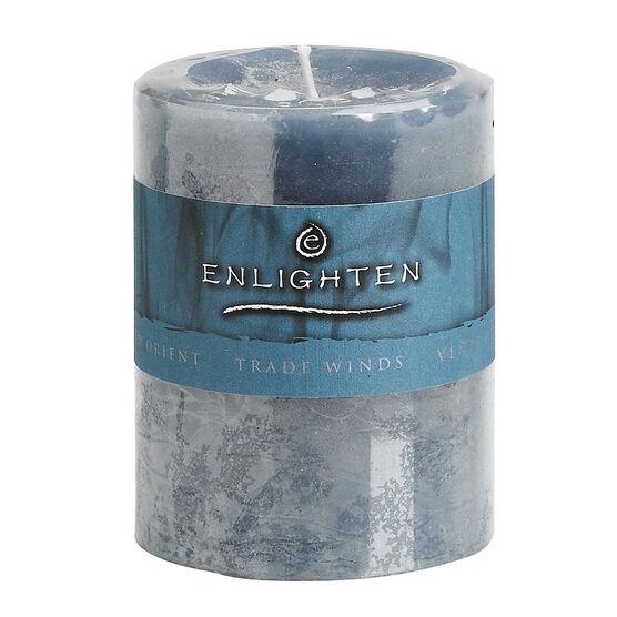 Enlighten Pillar Candle - Tradewinds - 3x4inch